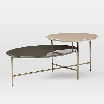 Glass Geo Stepped Coffee Table Westelm For The Home Pinterest - West elm glass side table