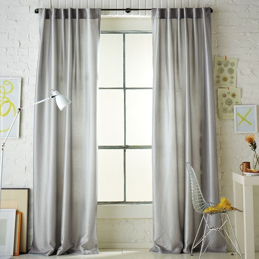 West Elm #curtains #bedroom