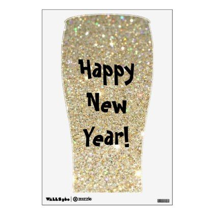 New years vintage woman drinking glitter wall sticker walldecals home decor cyo custom wall decals