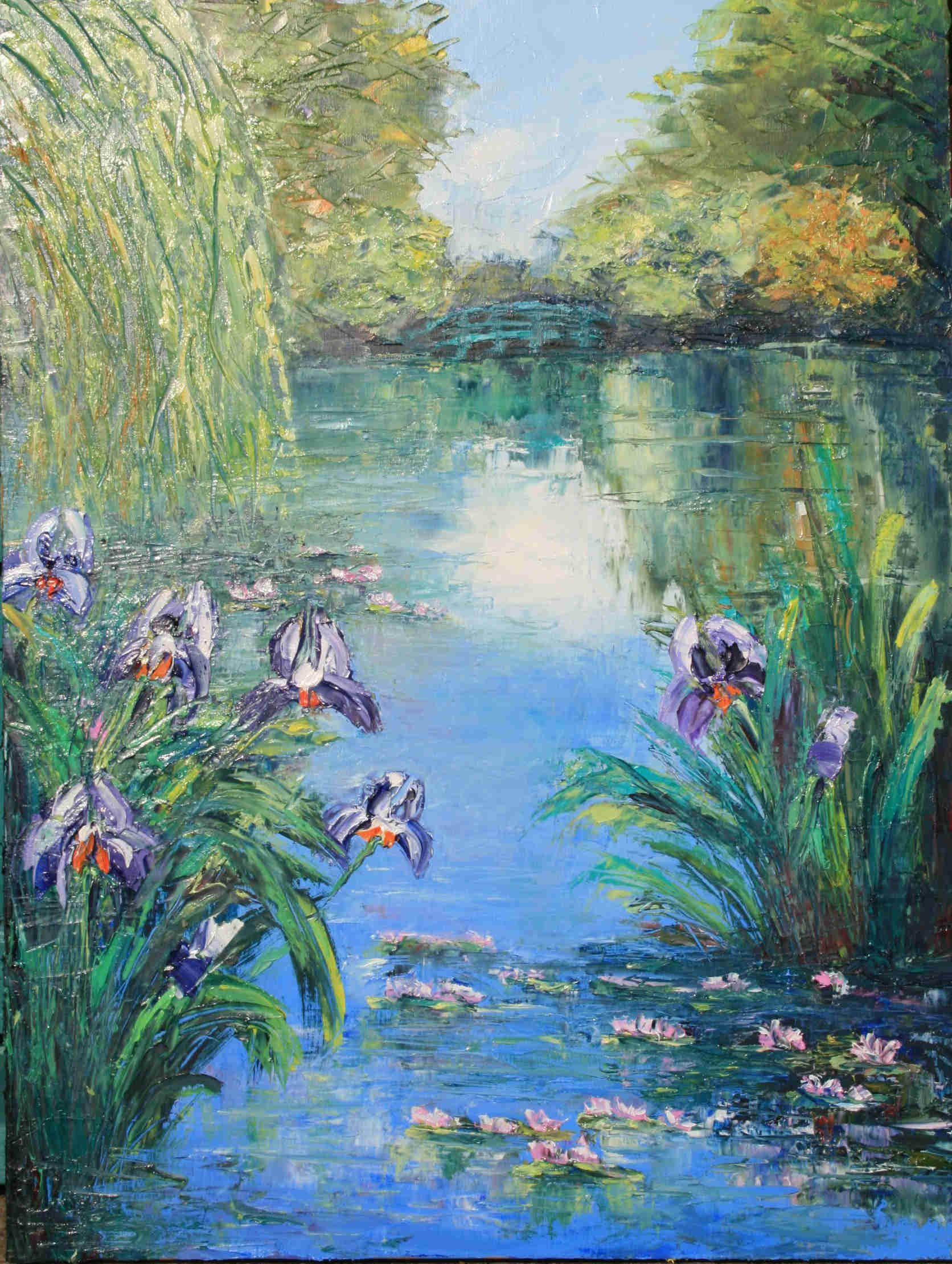 Claude Monet - Irises   Artist monet, Impressionist ...