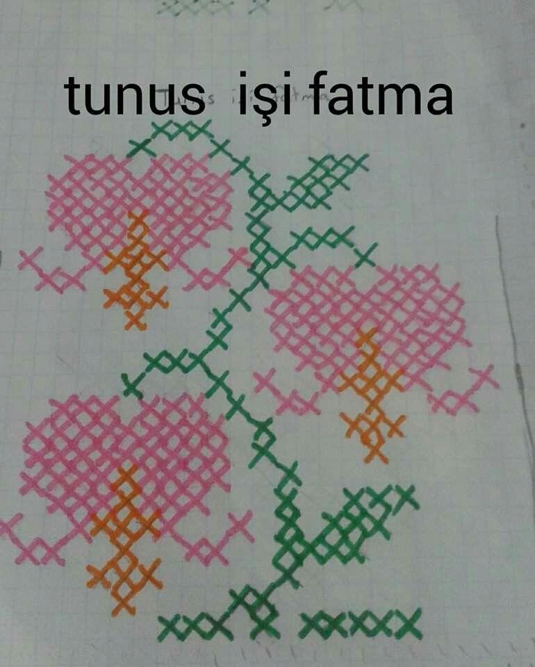 Tunus patik ornekleri | Gündoğumları | Pinterest | Tunisian crochet ...
