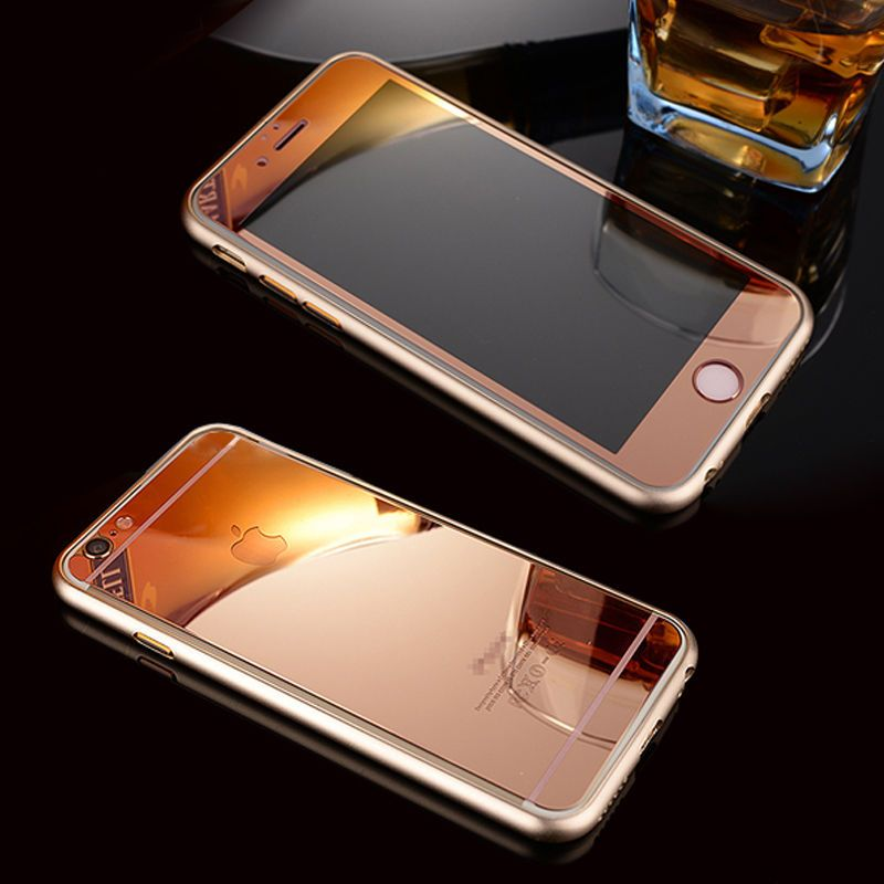 Rose Gold Mirror Tempered Glass Front Back Screen Protector Cover For Iphone Glass Screen Protector Iphone Screen Protector Iphone Glass Screen Protector