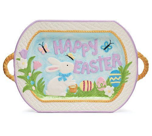 Whimsical Easter Serving Platter Accented with Easter Rabbit, Easter Eggs & Butterflies Burton & Burton,http://www.amazon.com/dp/B00I9IDK5M/ref=cm_sw_r_pi_dp_oHeqtb0CP9YC3D1K