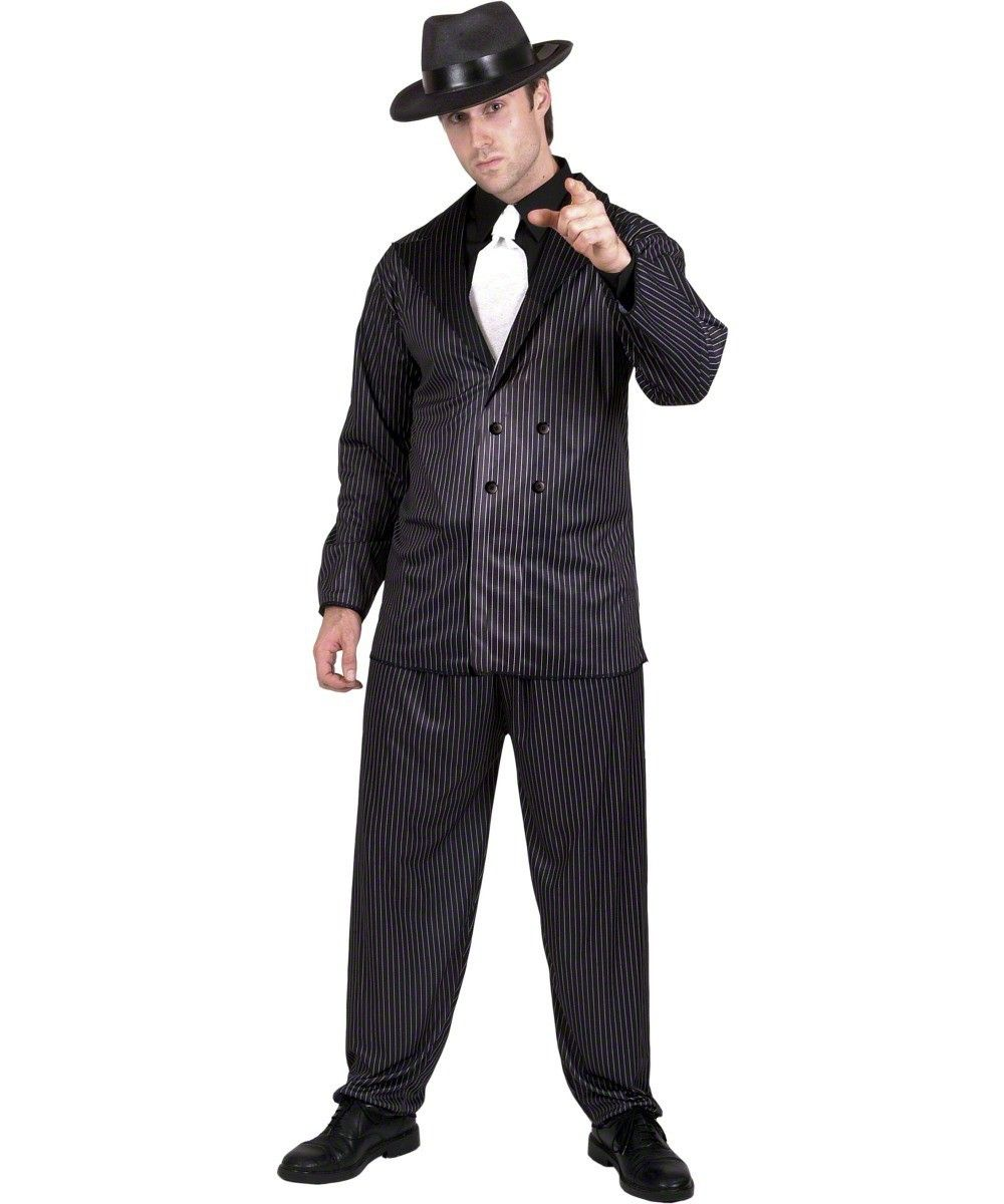 14c34e218315 20s Gangster Fashion for Men | Men's Pinstripe Gangster Costume - Classic  20s & 30s Style Gangster .
