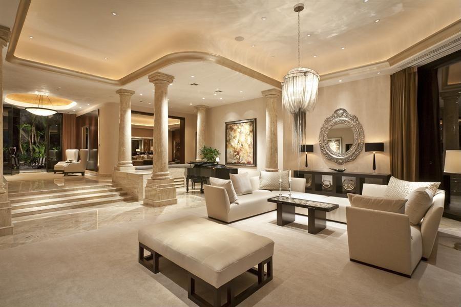 Attractive sunken living room Living Rooms Pinterest Tuscan