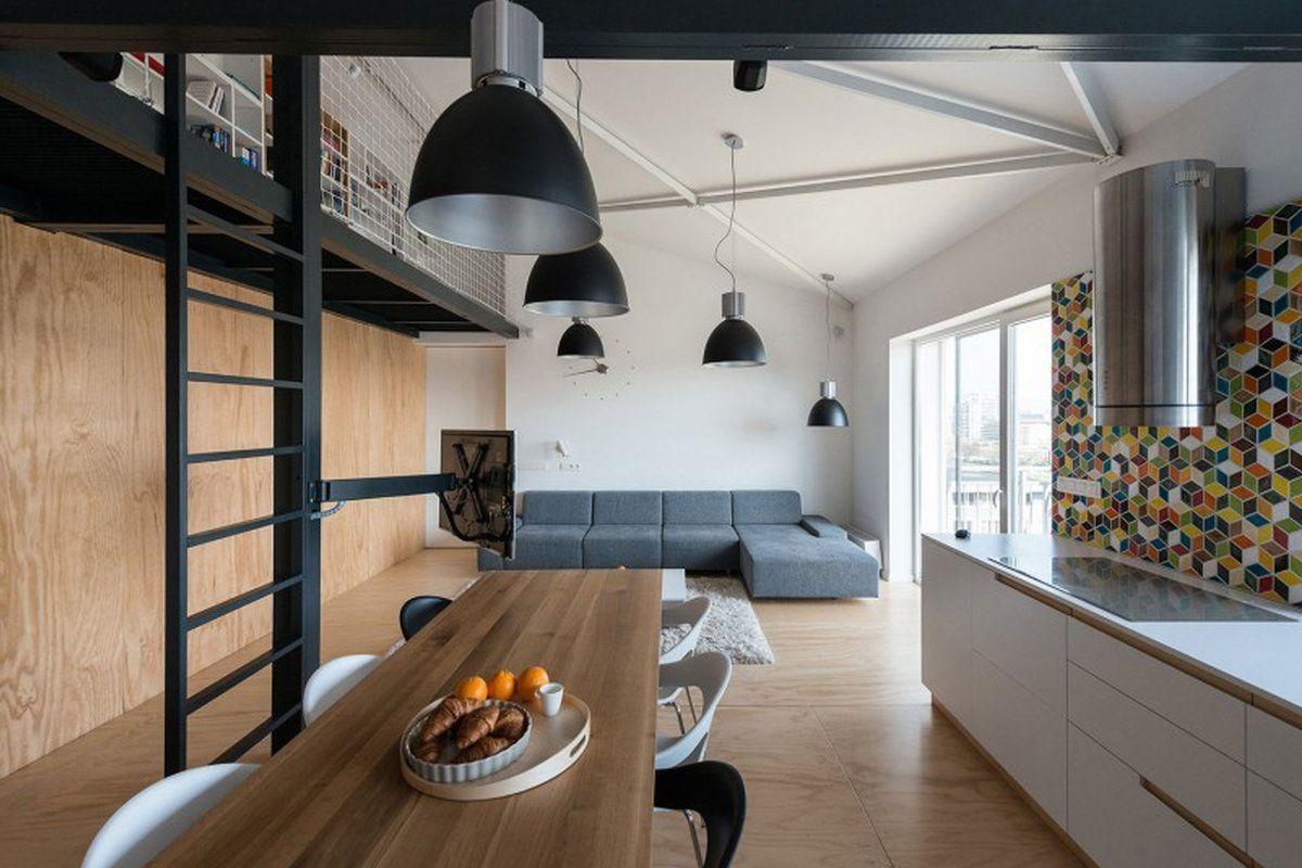 Loft met warme uitstraling keuken zonder eiland