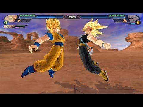 Super Saiyan Goku fuses with Super Saiyan Future Trunks in