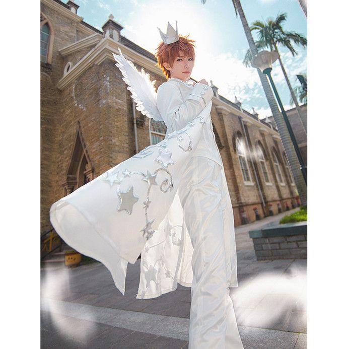 Cosplay Women Card Captor Sakura Hat Glove Socks Suit Costume Halloween Dress