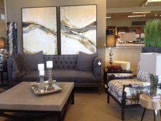 Tufted Sofa And Leather Ottoman Pacific Design Group