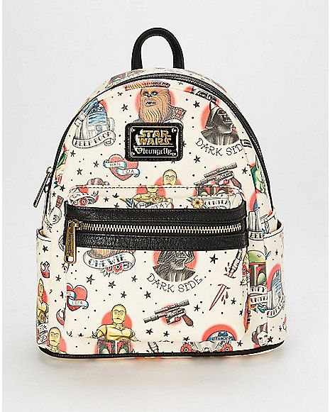 a88bb125a70 Loungefly Tattoo Star Wars Mini Backpack - Spencer s