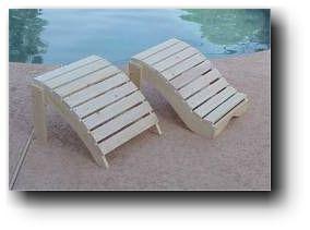 Adirondack Foot Rests Outdoor Furniture Wooden