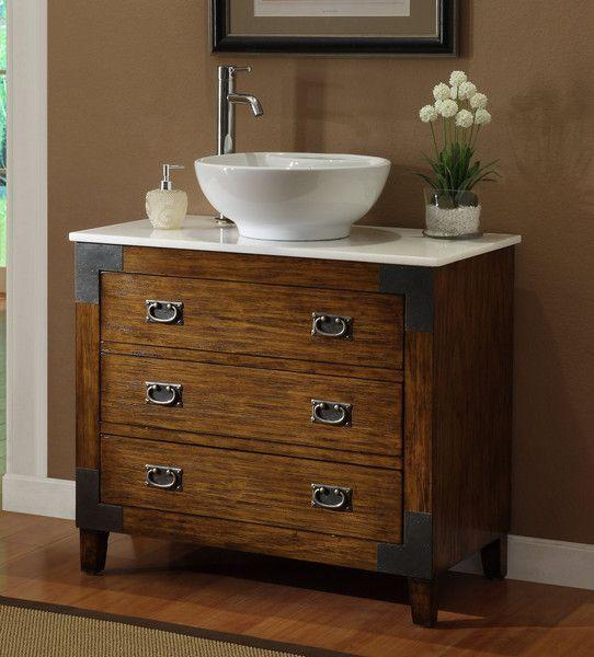 36 Asian Style Akira Vessel Sink Bathroom Vanity Cf35535 In