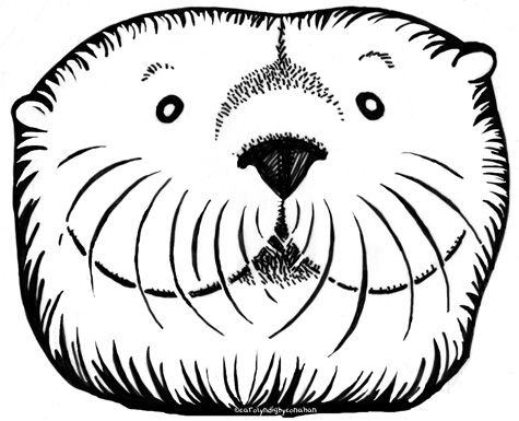 Sea Otter Mask Google Search Otters Coloring Pages Sea Otter