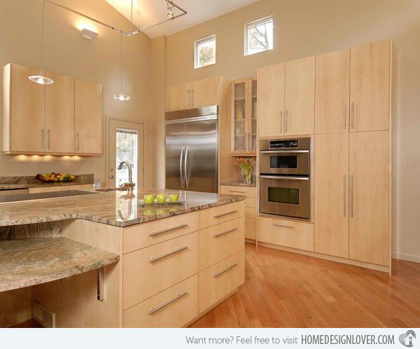 15 Contemporary Wooden Kitchen Cabinets  Wooden Kitchen Cabinets Interesting Modern Wooden Kitchen Designs Design Inspiration