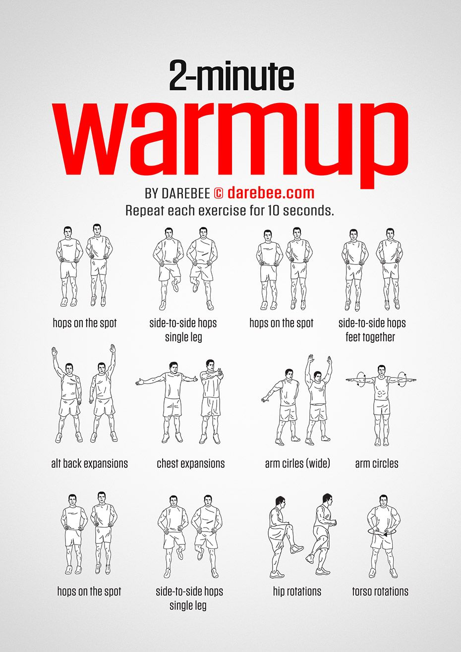 2 Minute Warmup Workout | Posted By: AdvancedWeightLossTips.com
