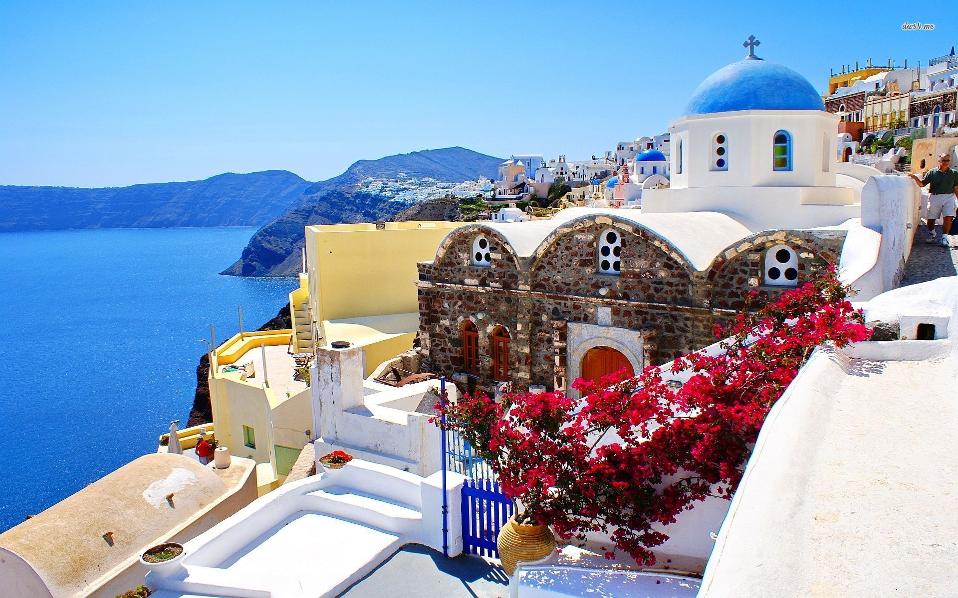 Santorini, Greece Wallpaper Beach Wallpapers 22173
