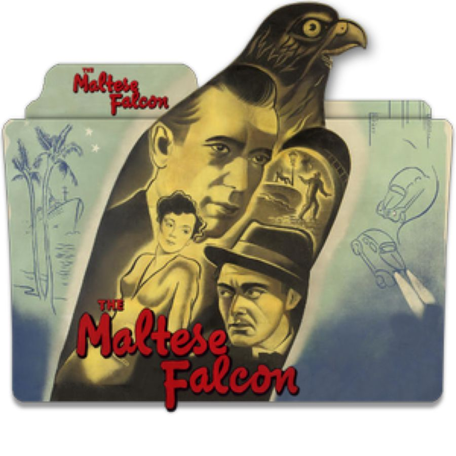 The Maltese Falcon 1941 V1dss By Ungrateful601010 On Deviantart Maltese Movies Folder Icon Falcon