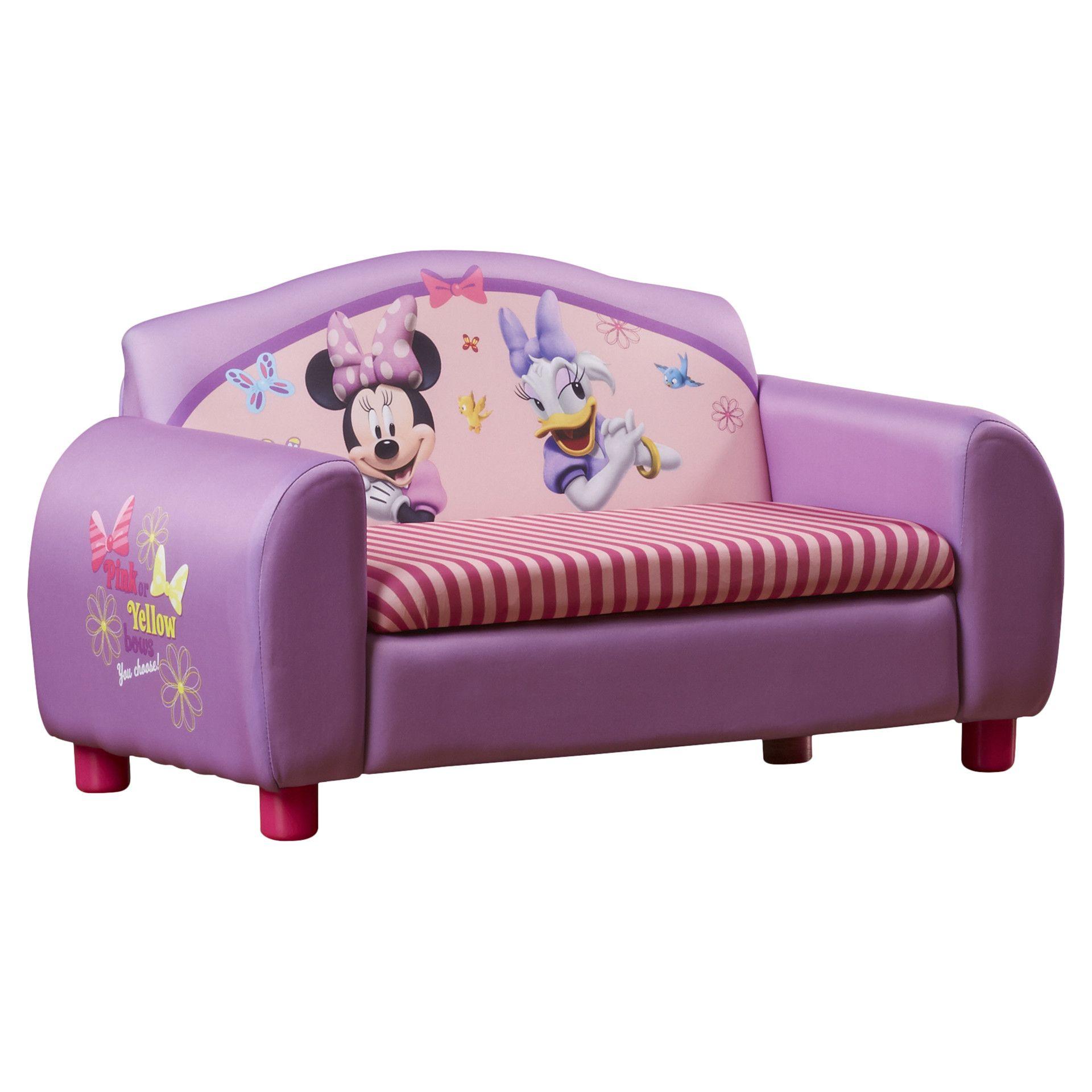Delta Children Disney Minnie Mouse Kids Sofa with Storage