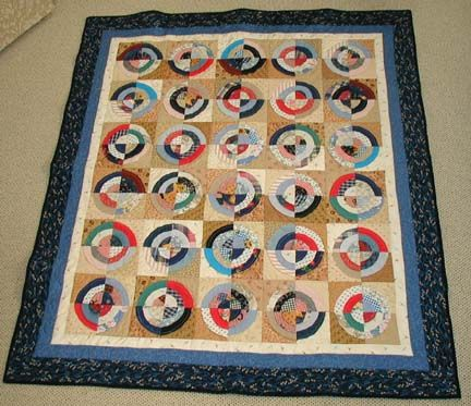 Antique Circle Memorial quilt. Made from the clothing of the ... : memorial quilt patterns - Adamdwight.com
