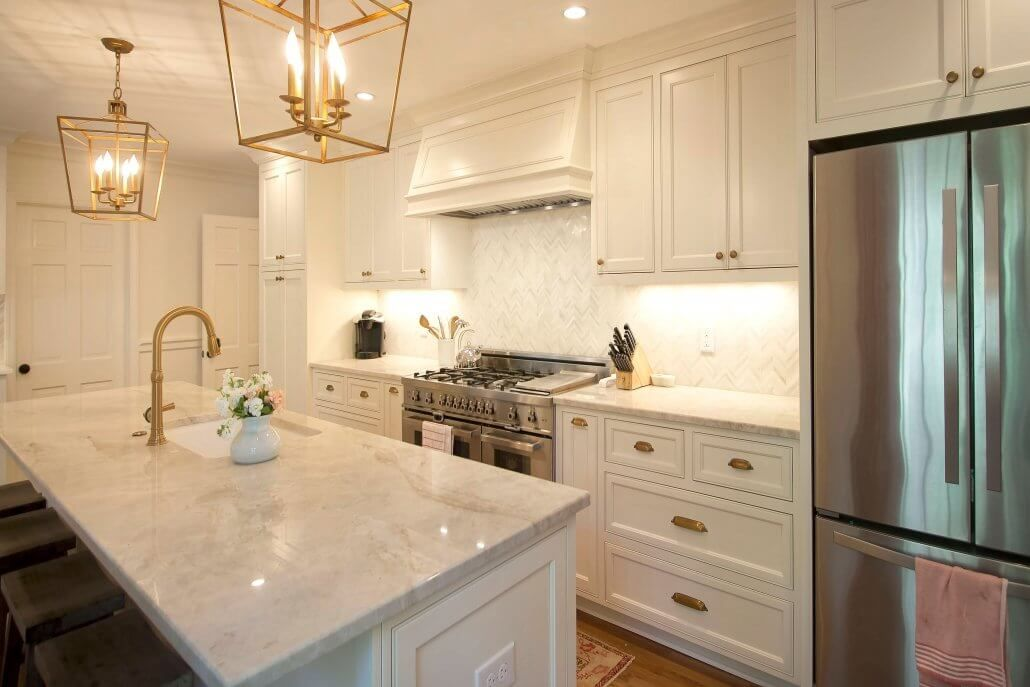 white kitchen cabinets brass hardware custom white cabinets with antique brass fixtures and 28706