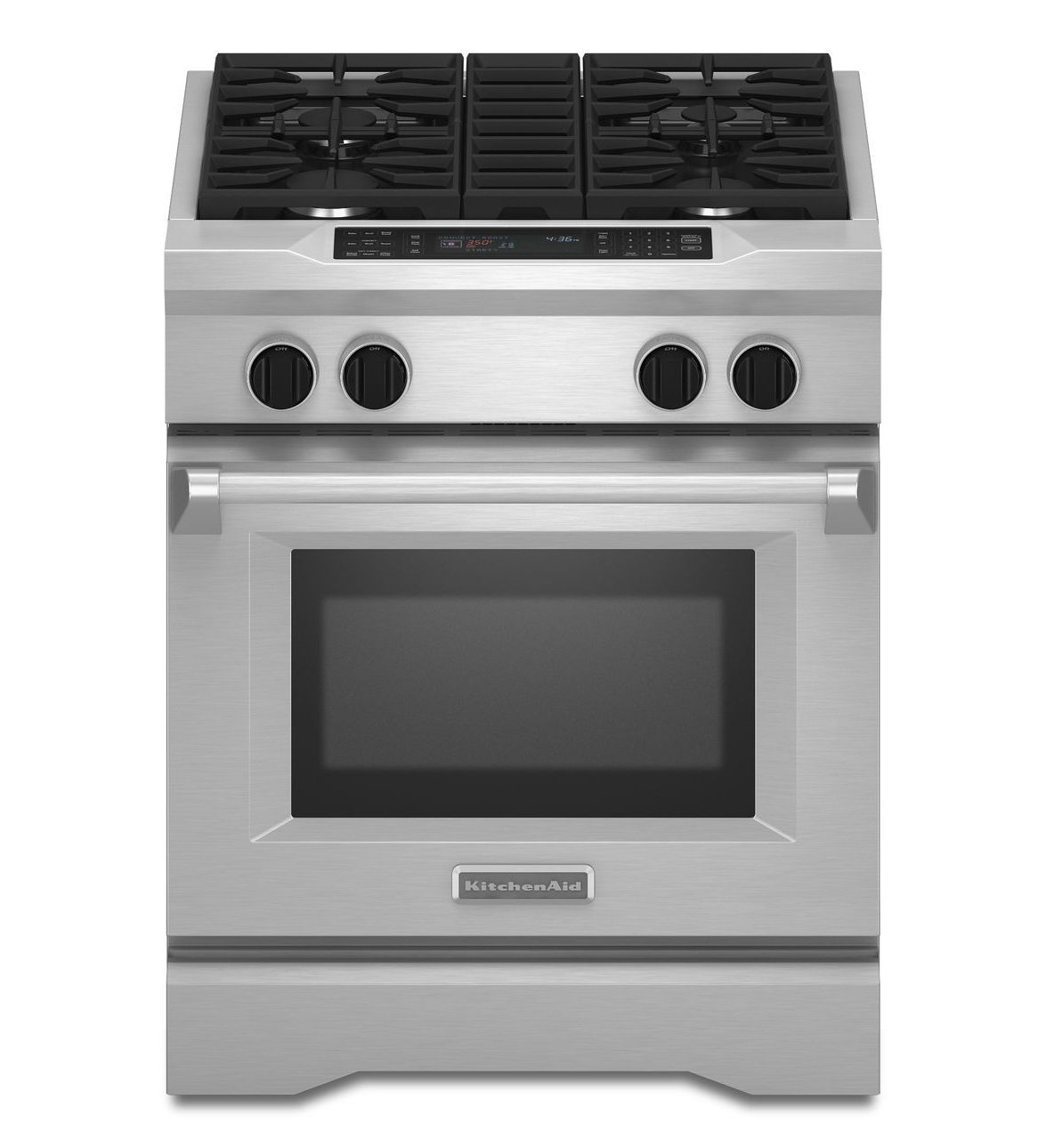 Superior KitchenAid Commercial Style Dual Fuel Range With 4 Sealed Burners, Cu.  Capacity, Ultra Power Dual Flame Burners, Even Heat True Convection System  And ...