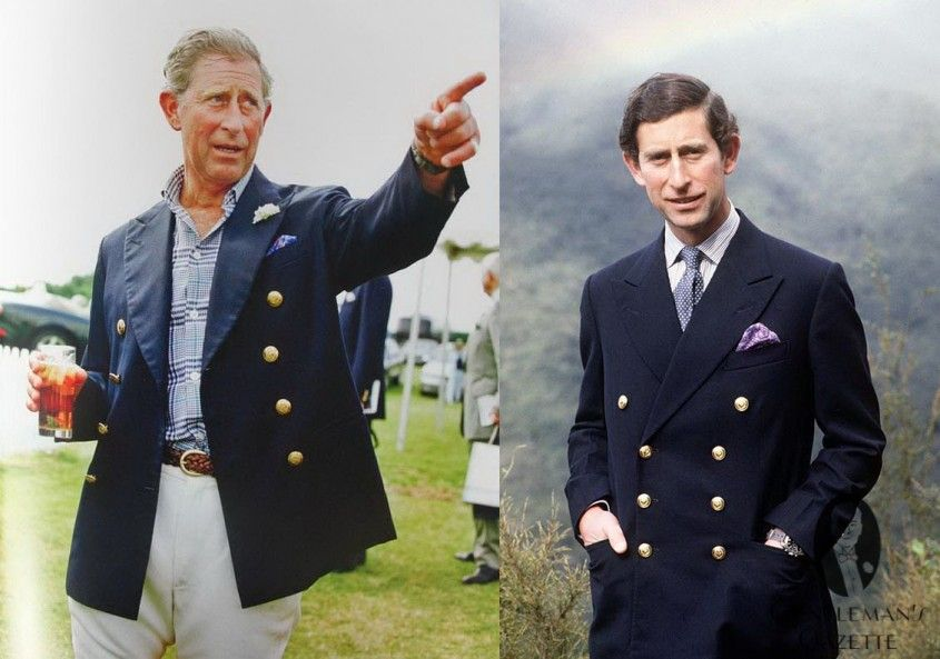 8427d887 Prince Charles in the same navy 8x3 double breasted blazer - classic  garments never go out of style