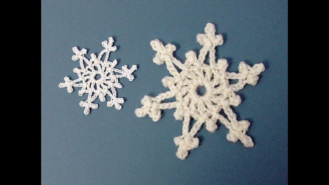 Easy 2 Round Crochet Snowflake Tutorial Crochet Snowflake Pattern Crochet Snowflakes Crochet Christmas Snowflakes