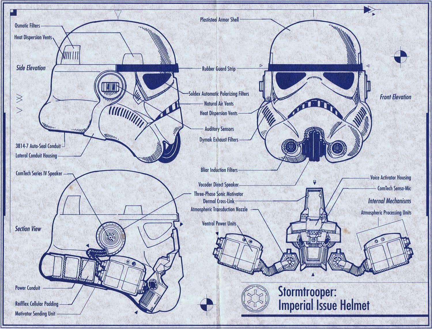 Star Wars: Stormtrooper Helmet DIY Cardboard (free template) | Diy ...