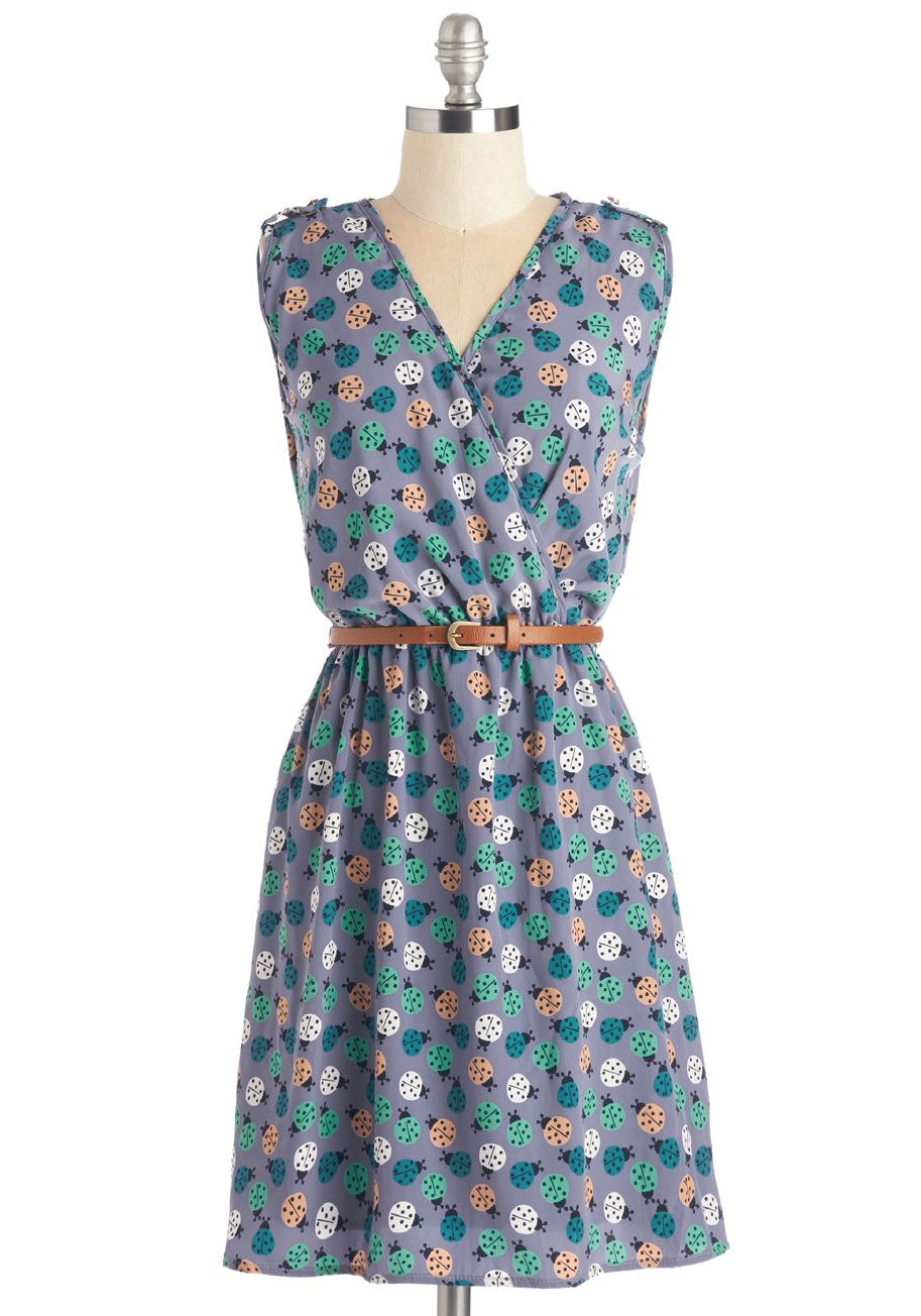 Ride Here, Right Now Dress in Ladybugs. Make your stylish presence known in this printed A-line dress! #multi #modcloth