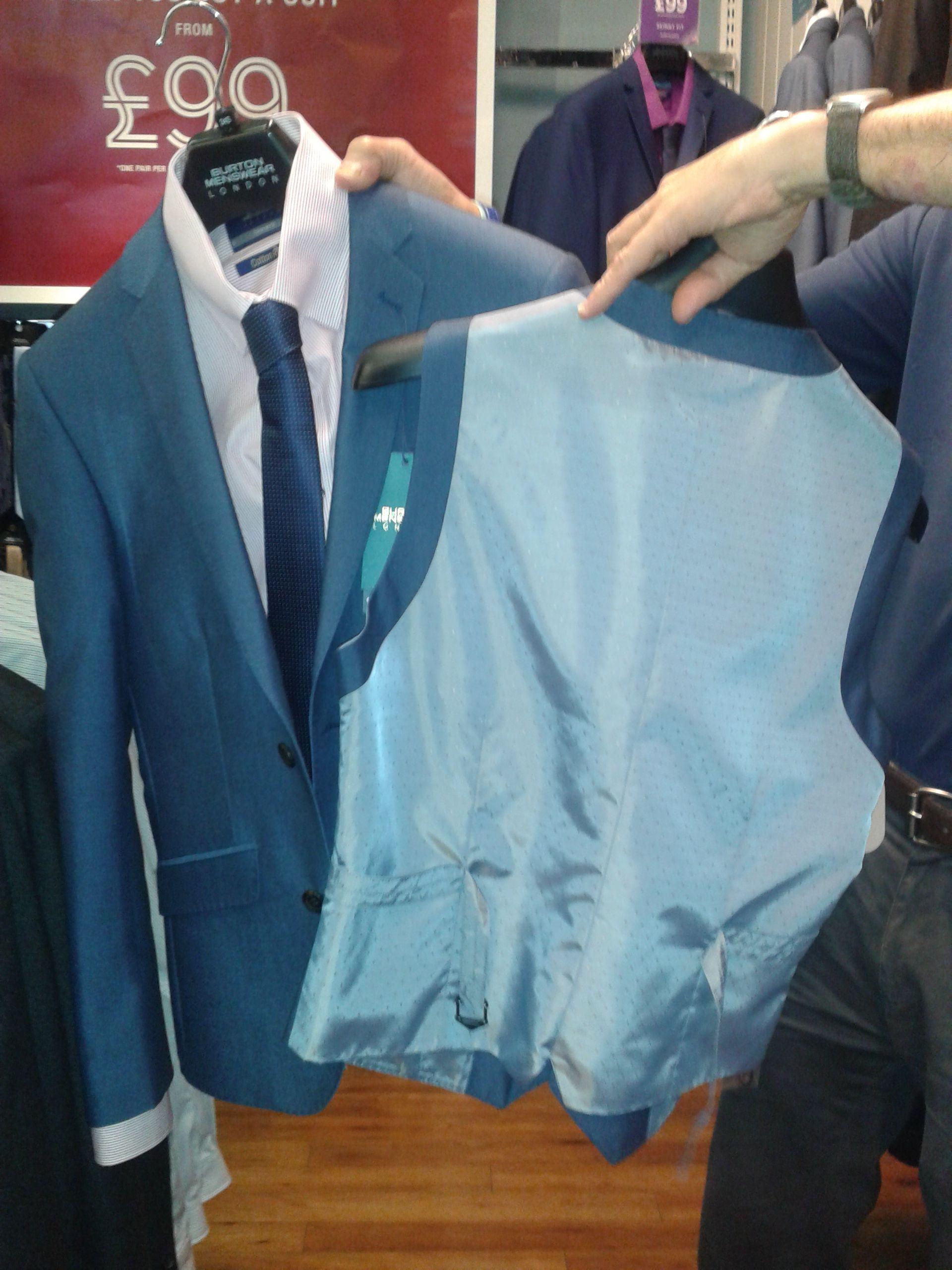 Blue suit - Waistcoat (back) - Burtons | Wedding Plans | Pinterest ...