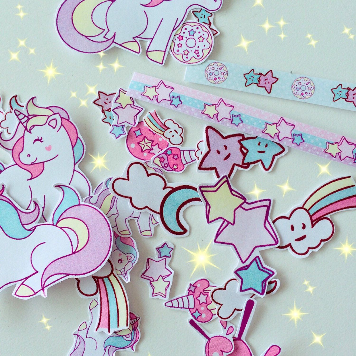Unicorns & rainbows on my way! Magic stickers full of colors and cutenes :)
