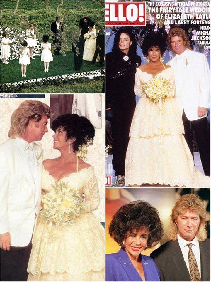 Elizabeth Taylor U0026 Larry Fortensky Wedding VIII (her Last Husband)