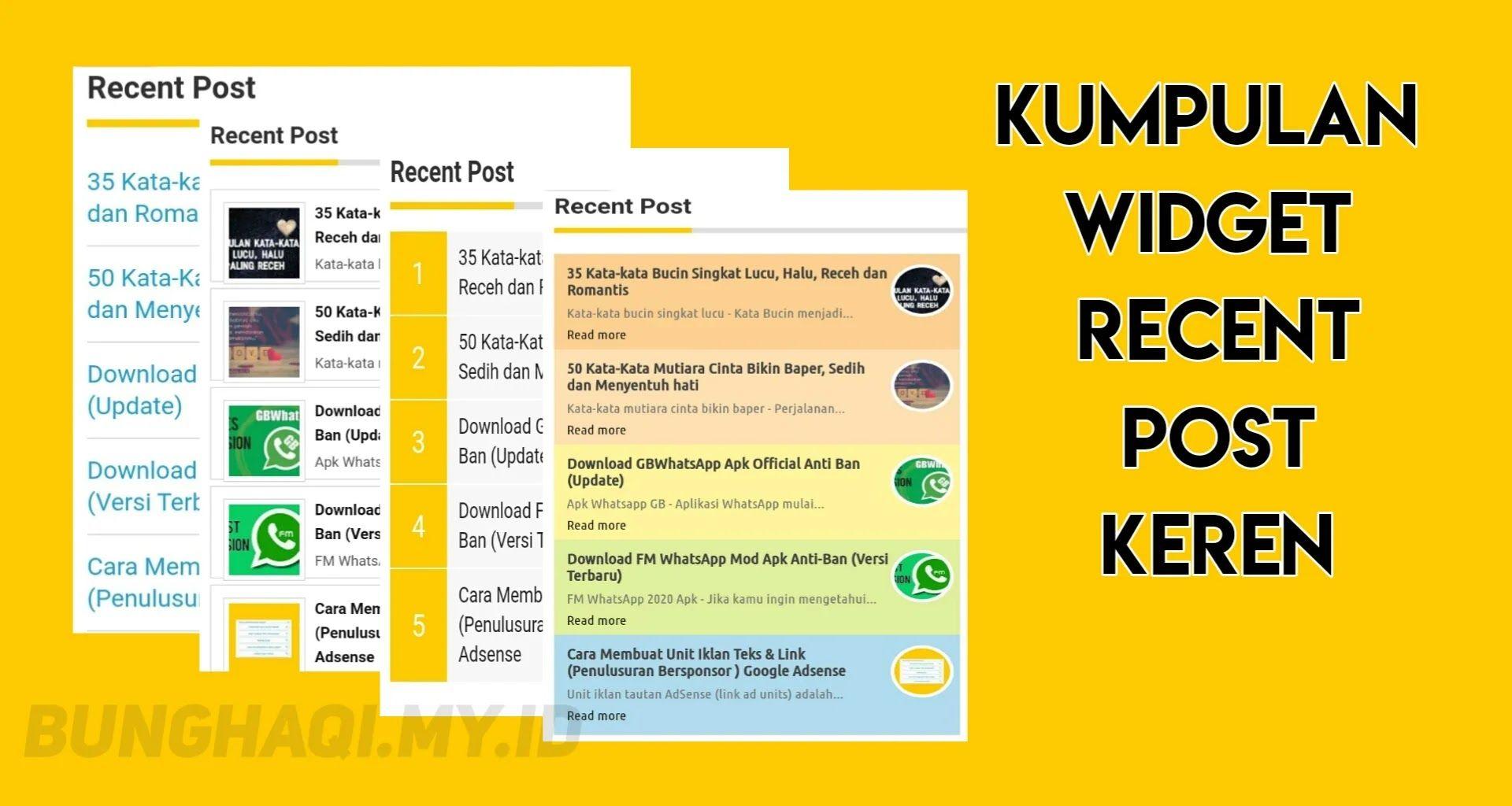 Cara Membuat Recent Post Keren Tips Blogging Script Blogging
