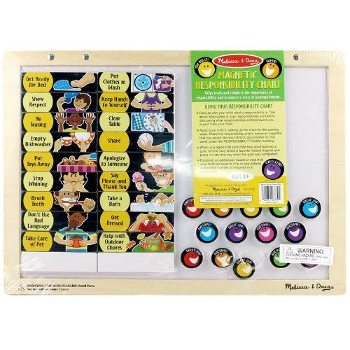 Melissa doug deluxe magnetic responsibility chart http www