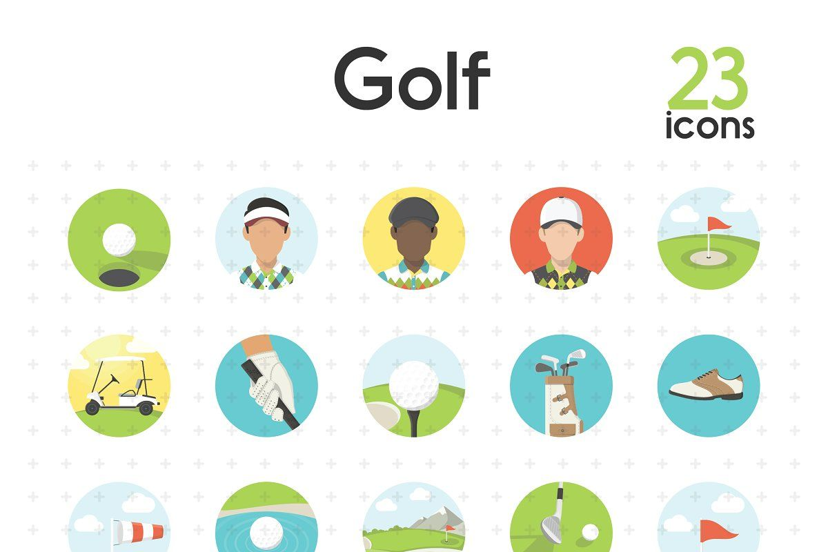 Run In 2020 Golf Icon Flag Icon