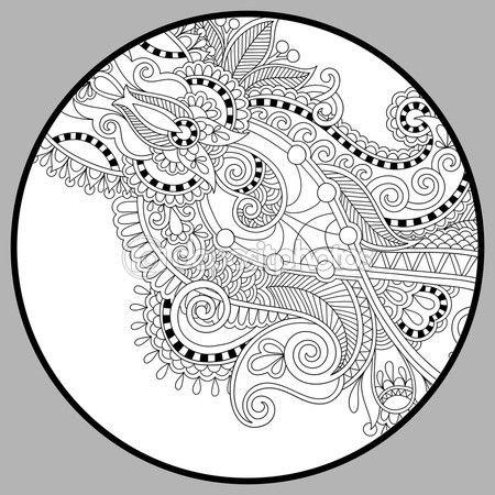 Página de libro para colorear para adultos - zendala — Vector de ...