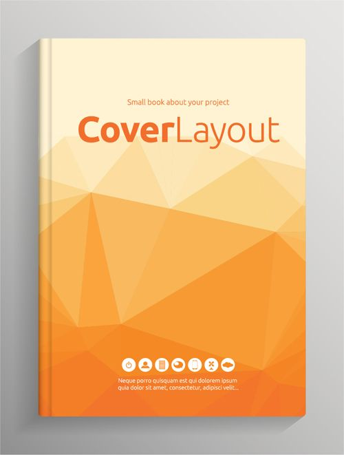 Book Cover Pictures Free ~ Brochure and book cover creative vector free eps file