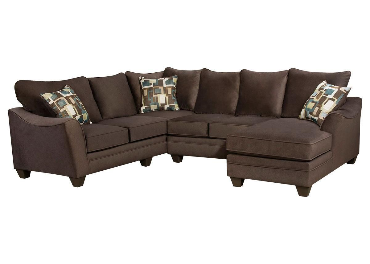 Casa Espresso 3 Pc. Sectional with Chaise  sc 1 st  Pinterest : brando sectional - Sectionals, Sofas & Couches