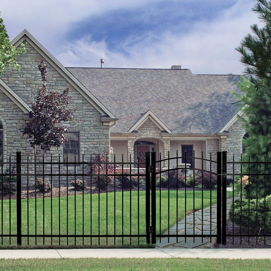 Shop Freedom Black Aluminum Fence Panel Common 60 In X