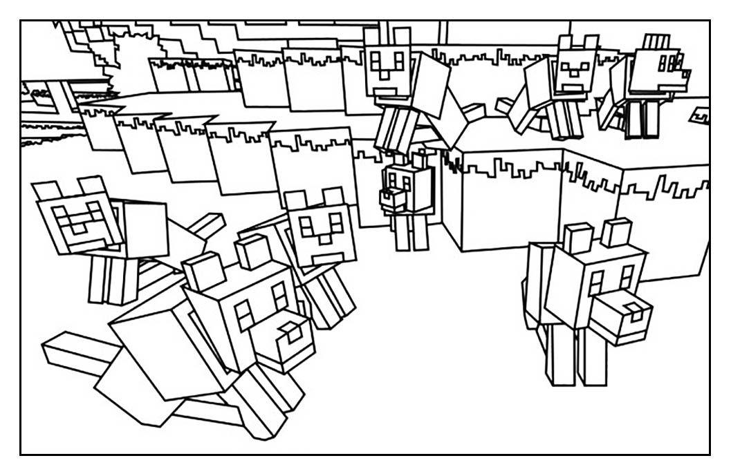 Pour imprimer ce coloriage gratuit «coloriage-enfant-minecraft-14 - best of minecraft coloring pages chicken