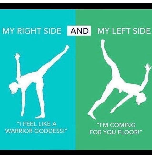 Ha ha ha yup this is me most days. Hands up if this is you too 🖐🏻 #yoga #yogateacher #leftandright #...