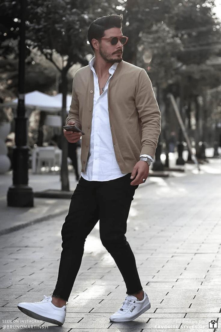 Smart Casual Outfit für Männer mit Blouson in 2020
