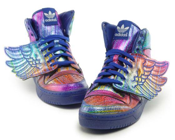 Flying high in a friendly sky, the Jeremy Scott x adidas Wings