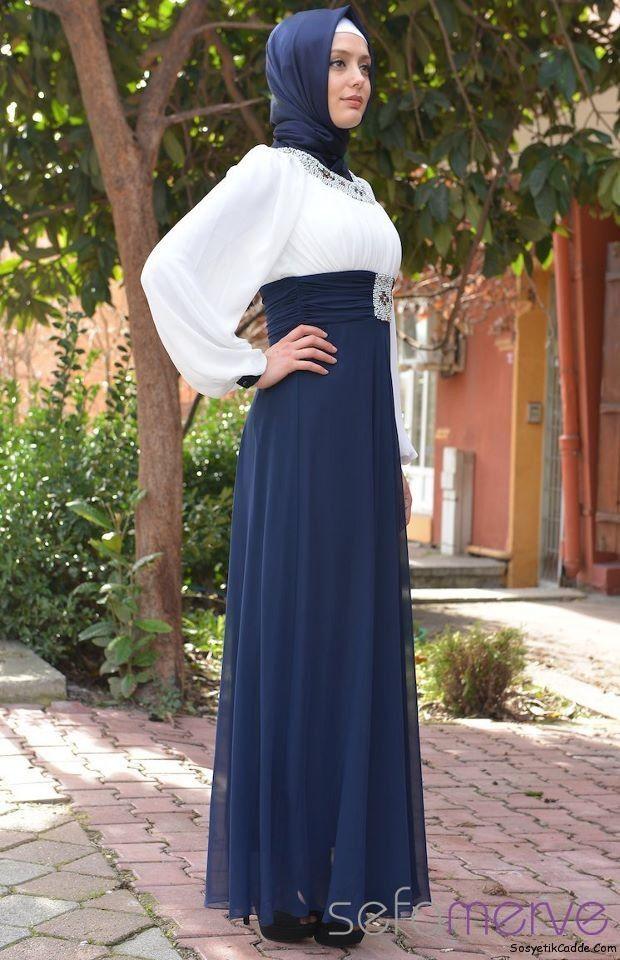 Tesettür Elbise Modelleri 2014