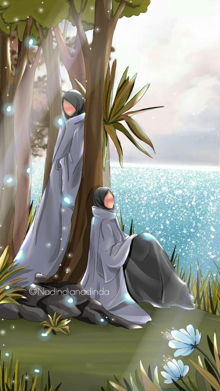 Pin oleh Nurlita di anime muslimah Elit Animasi, Kartun