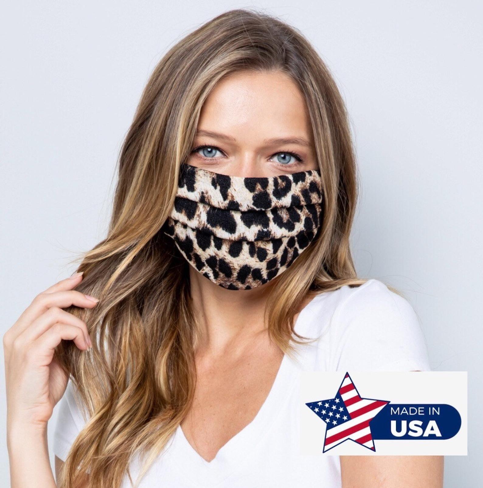 Best Seller Leopard Facemask Cooling Face Mask Washable Etsy In