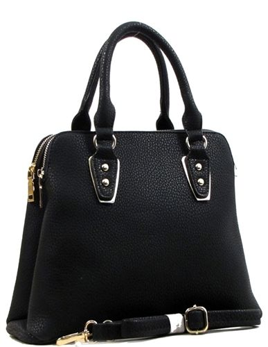 be9251850 Bolsa trapecio invertido negra, $900.00 | Bolsas para dama | Bolsos ...