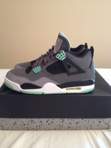 e7853263e192 ... australia jordan retro 4 green glow nike mens sneakers basketball shoes  5a9d0 eb78b