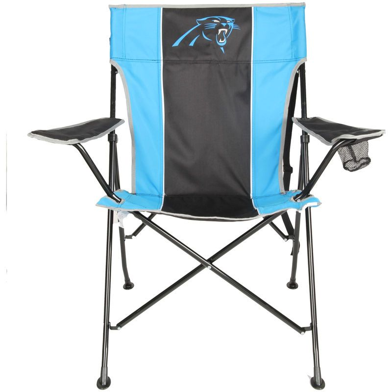 carolina panthers folding chairs herman miller setu tailgate quad chair with click carry strap