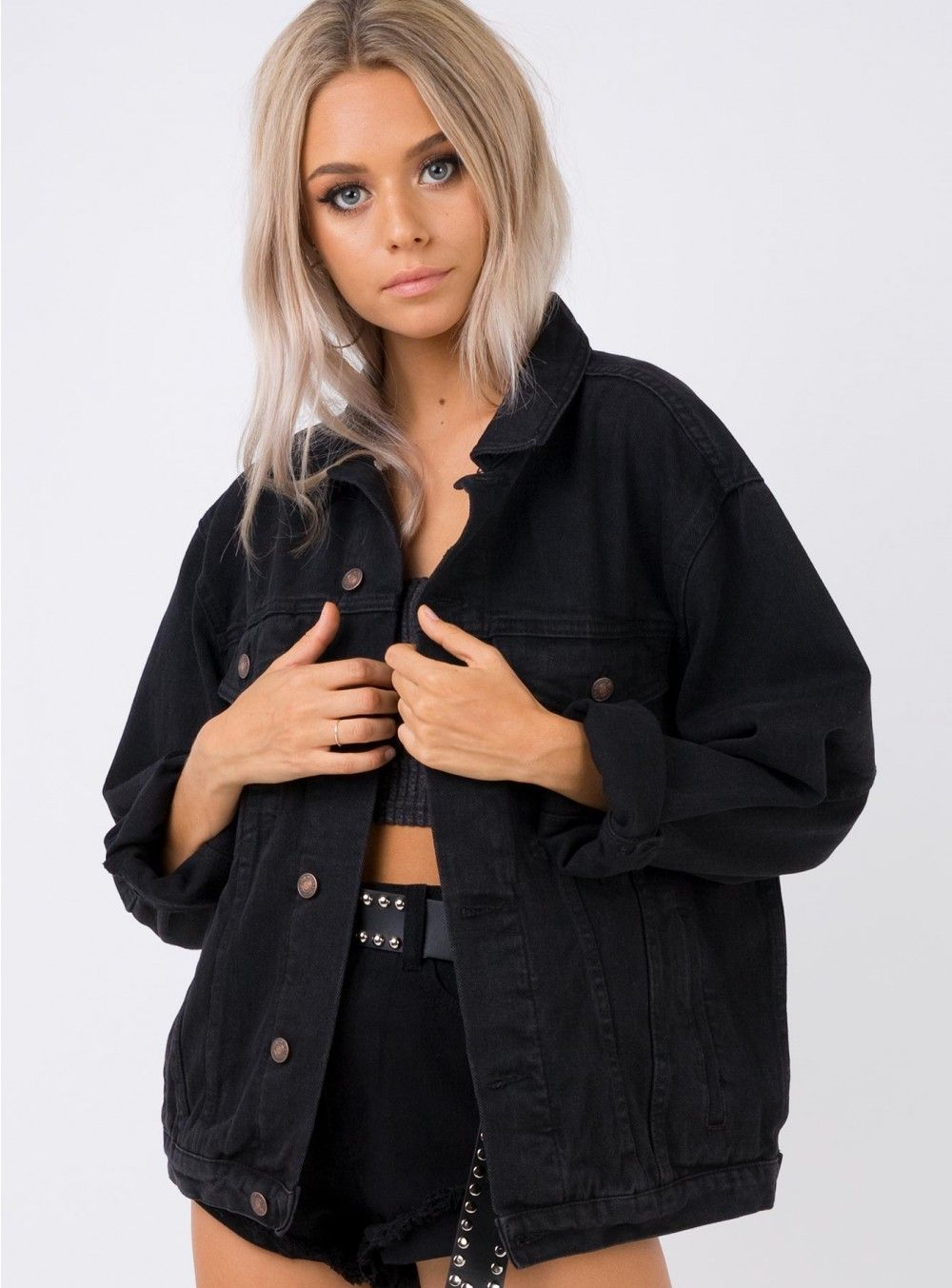 Phoenix Denim Jacket Black XS/S / Black Jackets, Denim